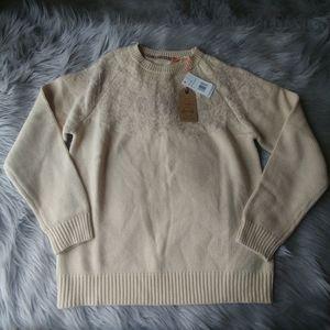 NWT Weatherproof Acrylic knit Sweater Medium Crea
